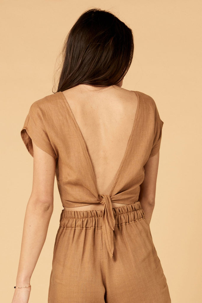 Whimsy + Row Valentina Top - Brown