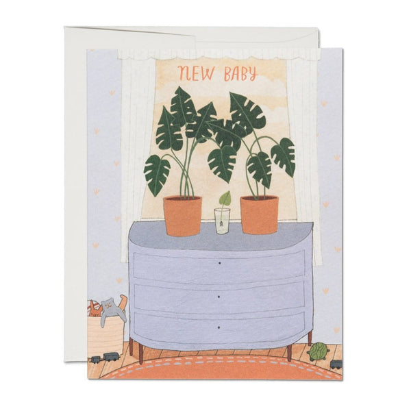 New Baby Plants Card
