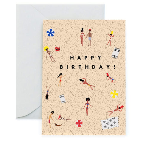 Venice Beach Birthday Card
