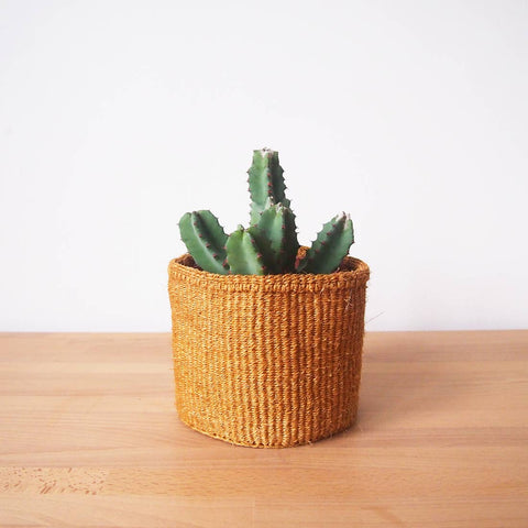 Small Storage Basket - Ochre