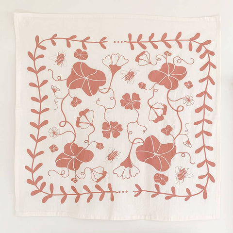 Nasturtium Tea Towel - Clay