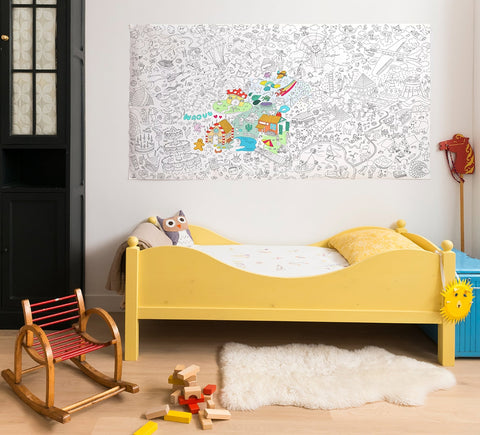 XXL Giant Coloring Poster - Fantastic