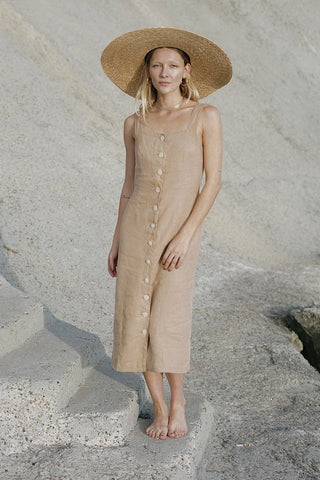 Provence Dress - Taupe