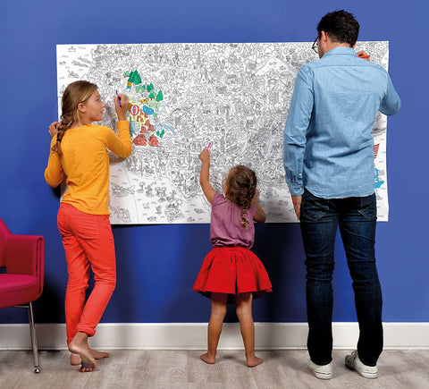 XXL Giant Coloring Poster - USA