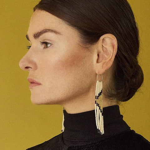 Pembetatu Extra Small Hoop Earrings - Black
