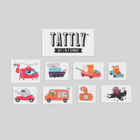 Animal Driver Tattly Set