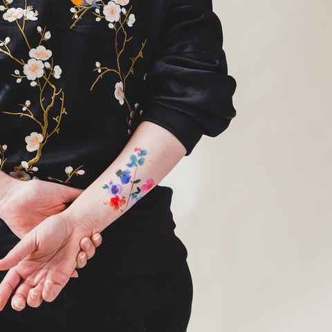 Tattly Blue Orchid Tattoo