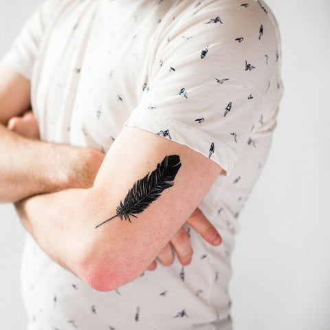 Tattly Feather Tattoo