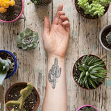 Tattly Saguaro Cactus Tattoo