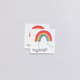 Tattly Rainbow Skateboard Tattoo