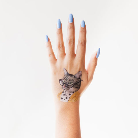Tattly Tabby Cat Tattoo