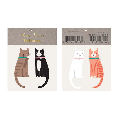 Happy Cat Tattoo Set