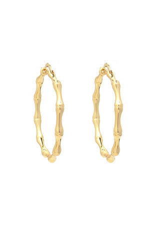 Gold Filled Bamboo Hoop Earring
