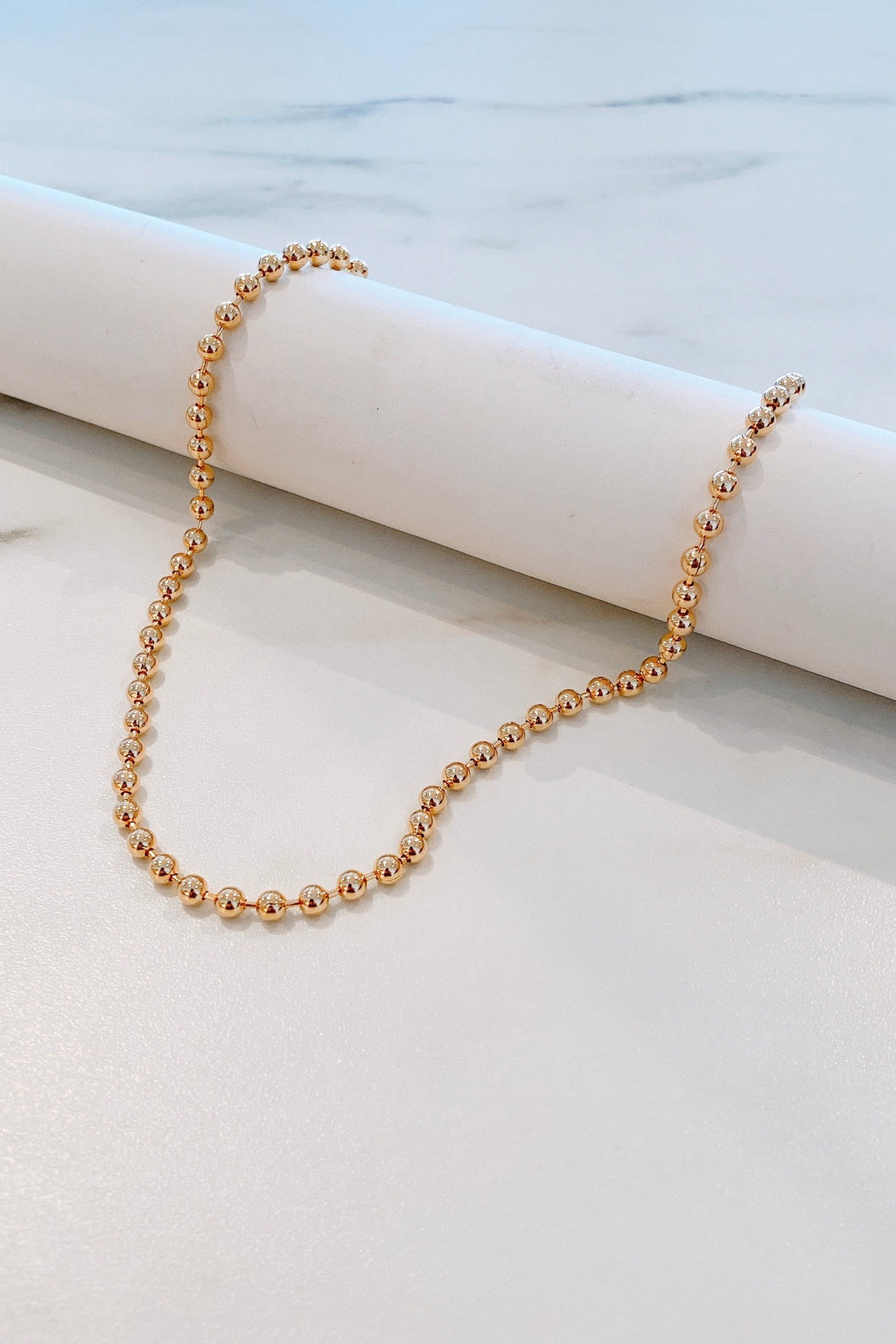 The Boss Bead Gold Necklace