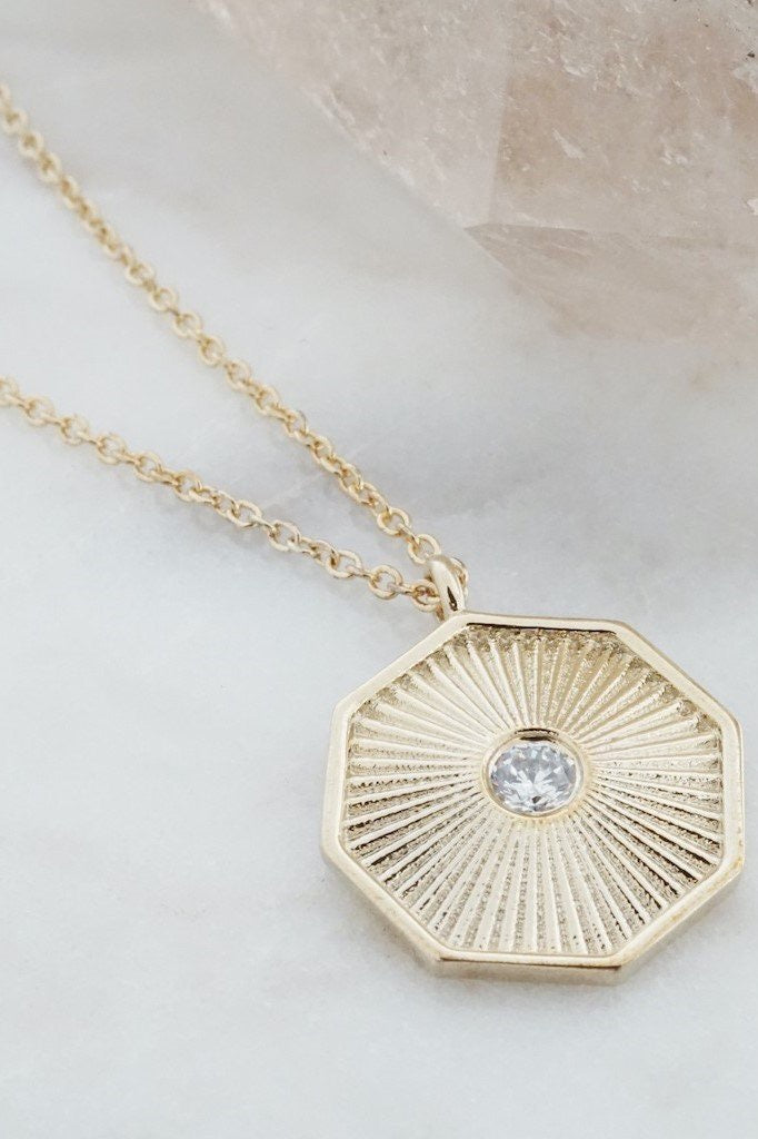 Sun Beam Pendant Necklace