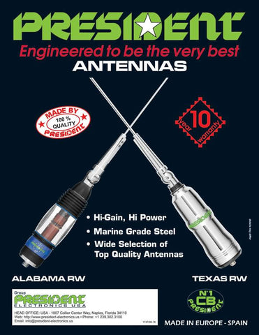 President Mobile Antennas Mount by Drilling