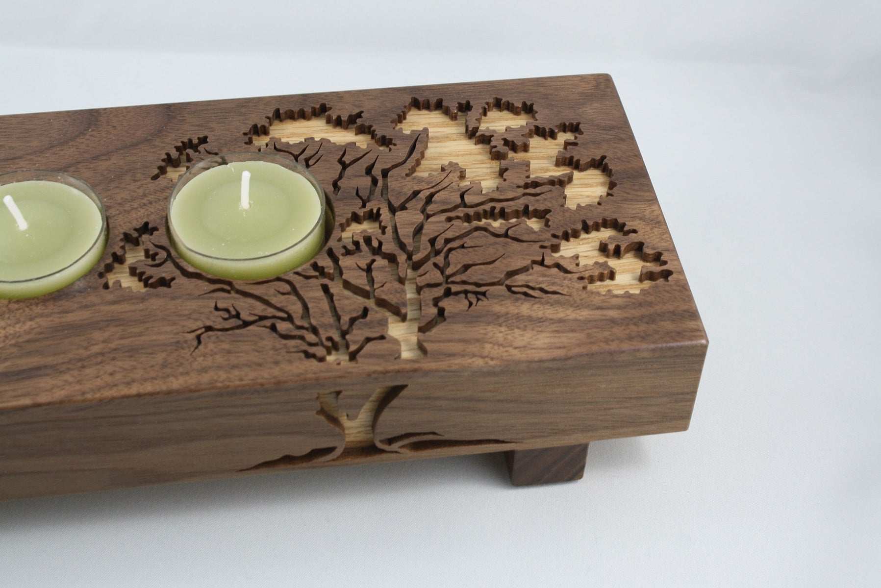 Arbutus candle holder by Mokajade Designs