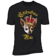Load image into Gallery viewer, Chihuahuas Rule T-Shirt (Black)