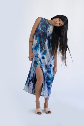 TIPARETH TANK DRESS _ Frequency Dye Blue