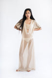 Lowleaf Maxi Dress - Sheer Gold