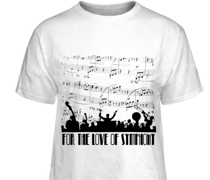 "Romantic Backstory of the  ""For The Love Of Symphony"" T-shirt Design"