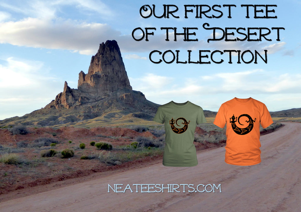 The backstory to our Desert-themed custom t-shirts.