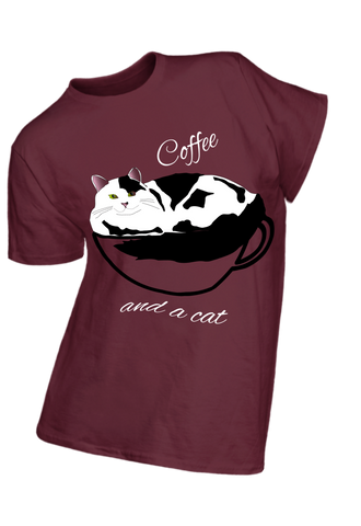 Coffee and a Cat t-shirt