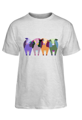 cow design on a light colored shirt