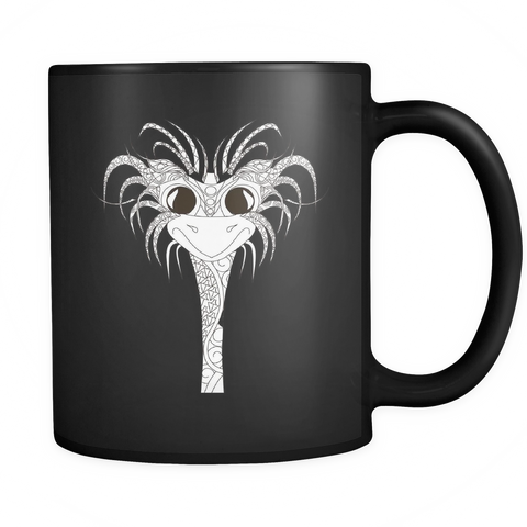 Happy Ostrich Face Mug