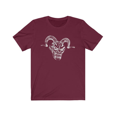 [custom_t-shirts] - [custom-t-shirt] - Krampus Mask Line Drawing T-shirt neatees