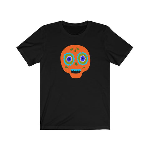 [custom_t-shirts] - [custom-t-shirt] - Calaveras Skull Painted for Dia de los Muertos The Day of the Dead - Orange neatees