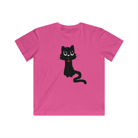 Heart Filled Kitty Animal T-shirt for Kids - Fine Jersey Tee - neateeshirts