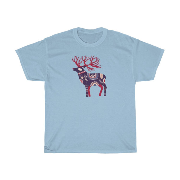 [custom_t-shirts] - [custom-t-shirt] - Scandinavian Moose in purple and red for men and women neatees
