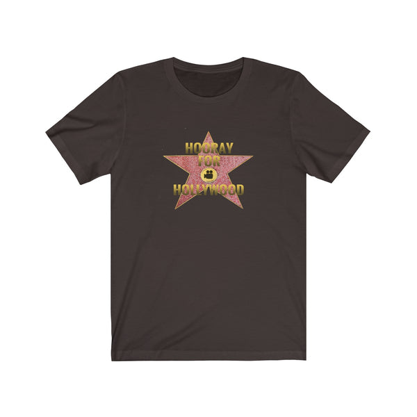 [custom_t-shirts] - [custom-t-shirt] - Hooray for Hollywood Star Art on Unisex Jersey Short Sleeve Tee for Men and Women neatees