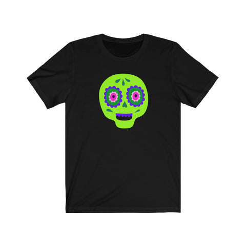 [custom_t-shirts] - [custom-t-shirt] - Calaveras Skull Painted for Dia de los Muertos The Day of the Dead - Lime neatees