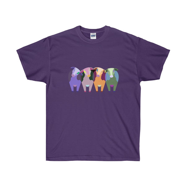 [custom_t-shirts] - [custom-t-shirt] - Four Colorful Cows t-shirt for those who love cows neatees