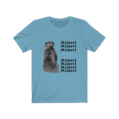 "BBC Groundhog calling ""Alan, Alan, Alan!"" Funny t-shirt inspired by the famous video"