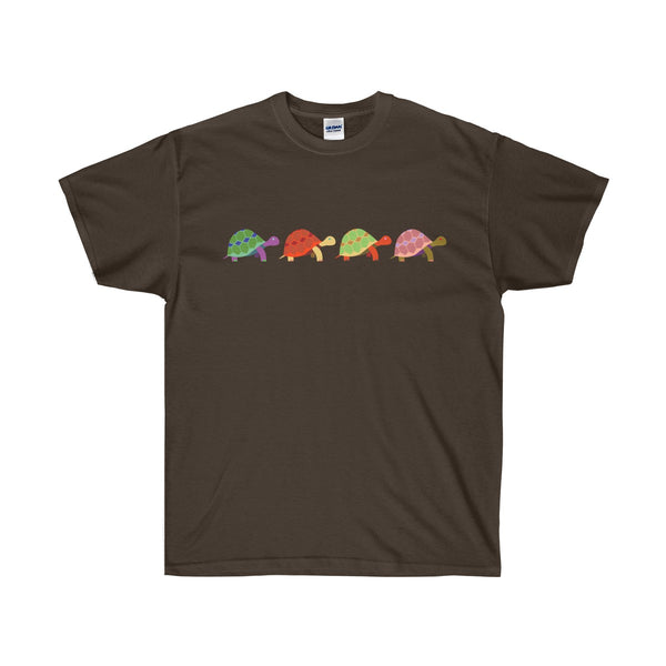[custom_t-shirts] - [custom-t-shirt] - Four Turtles in a Row Gildan Ultra Cotton T-shirt neatees