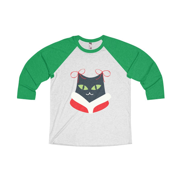 [custom_t-shirts] - [custom-t-shirt] - Miss Kitty Christmas Meow Raglan Sleeve T-shirt neatees