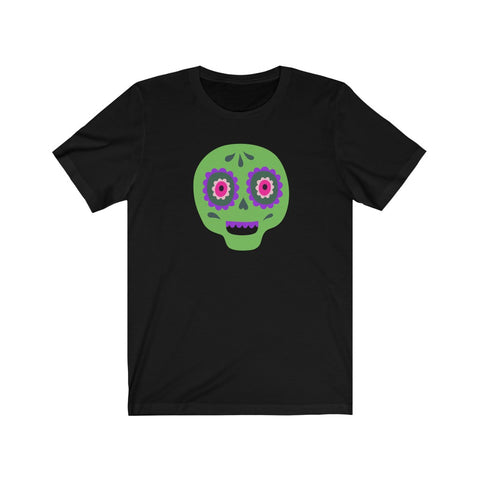 [custom_t-shirts] - [custom-t-shirt] - Calaveras Skull Painted for Dia de los Muertos The Day of the Dead - Green neatees
