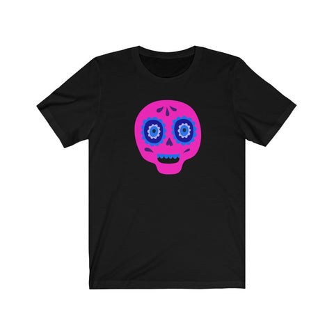 [custom_t-shirts] - [custom-t-shirt] - Calaveras Skull Painted for Dia de los Muertos The Day of the Dead - Pink neatees