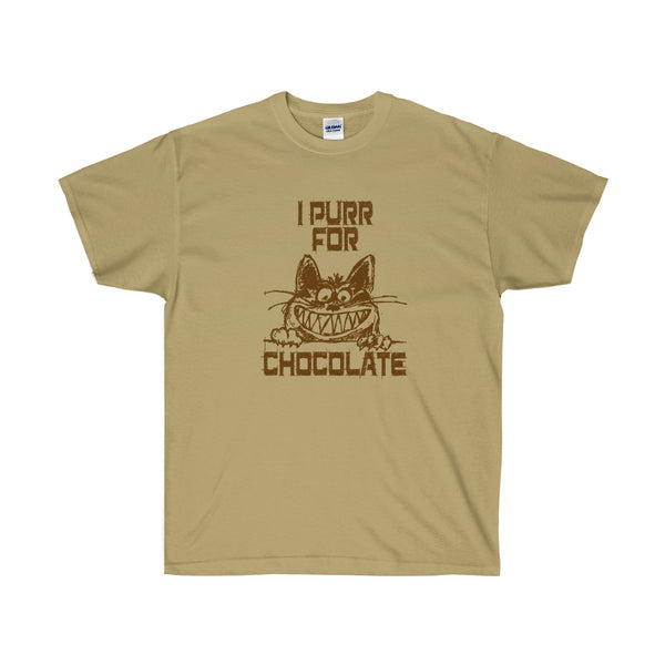 [custom_t-shirts] - [custom-t-shirt] - I Purr for Chocolate for Cat Lovers T-Shirt for Men and Women neatees