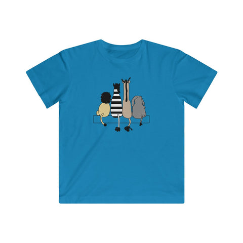 Four Friends Animal T-shirt for Kids - Fine Jersey Tee - neateeshirts