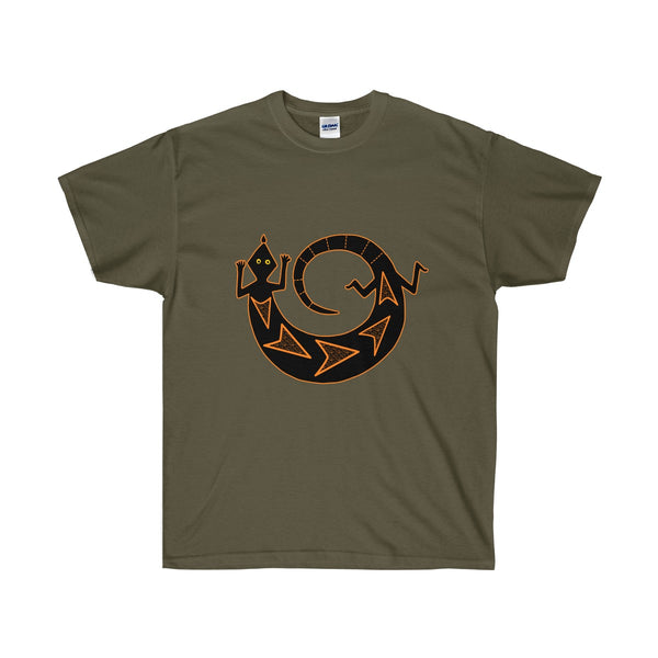 [custom_t-shirts] - [custom-t-shirt] - American Indian Art Gecko Drawing  Unisex T-shirt neatees