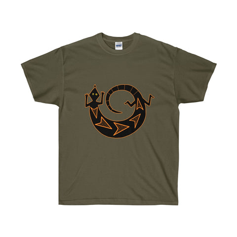 American Indian Art Gecko Drawing  Unisex T-shirt - neateeshirts