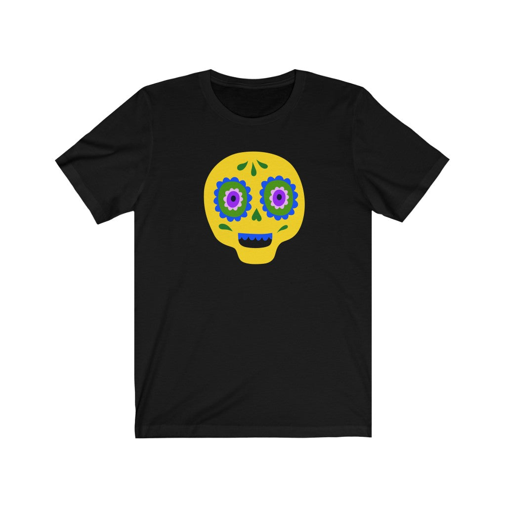 [custom_t-shirts] - [custom-t-shirt] - Calaveras Skull Painted for Dia de los Muertos The Day of the Dead - Yellow neatees