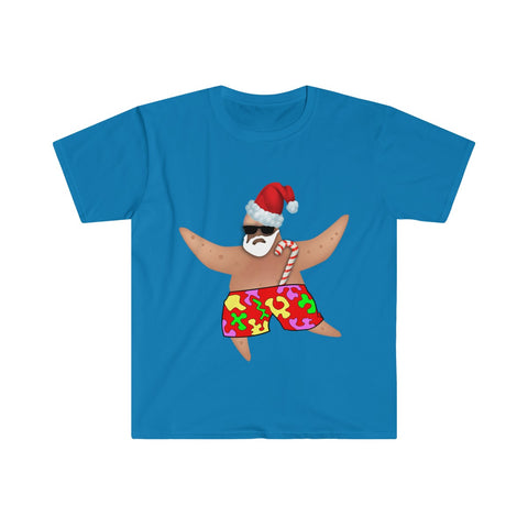 Starfish Santa Ugly Christmas T-Shirt - neateeshirts