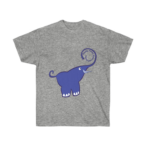 Clarity, Focus, Ease and Grace Purple Elephant - neateeshirts