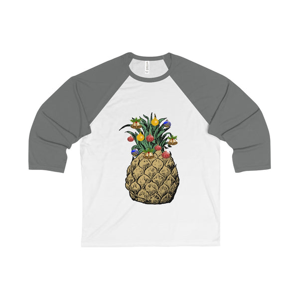 [custom_t-shirts] - [custom-t-shirt] - Happy Pineapple Christmas Tree Baseball Shirt neatees