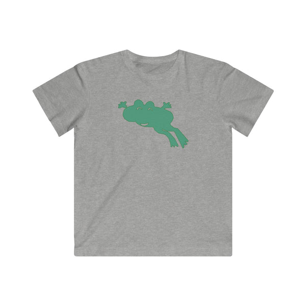 [custom_t-shirts] - [custom-t-shirt] - Happy Jumping Frog Animal T-shirt for Kids - Fine Jersey Tee neatees